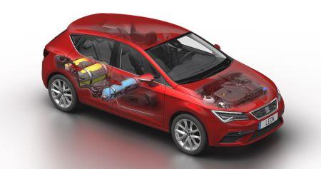71ec142ad SEAT vylepšil verziu populárneho modelu Leon, poháňanú stlačeným zemným  plynom CNG, novým motorom 1.5 TGI a integráciou troch nádrží na plyn pre  predĺženie ...